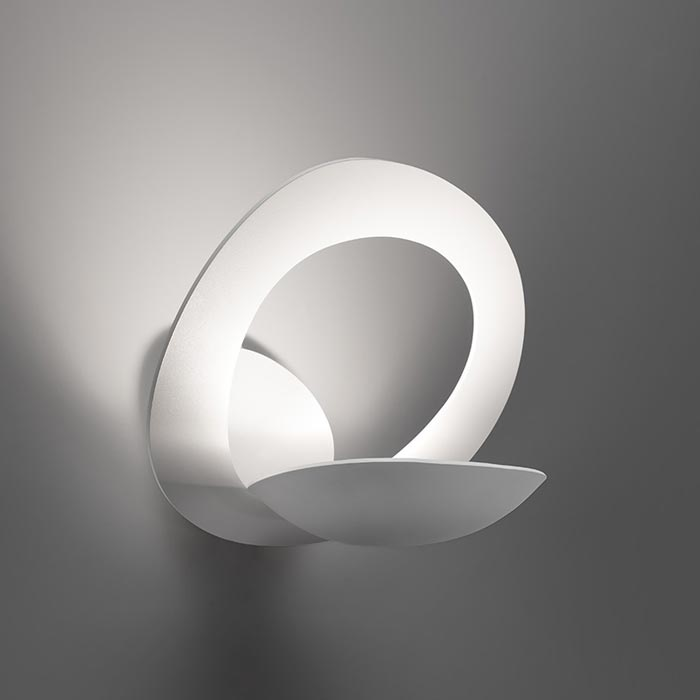 ARTEMIDE Pirce Parete Halo 1240010A Applique di Design Bianco