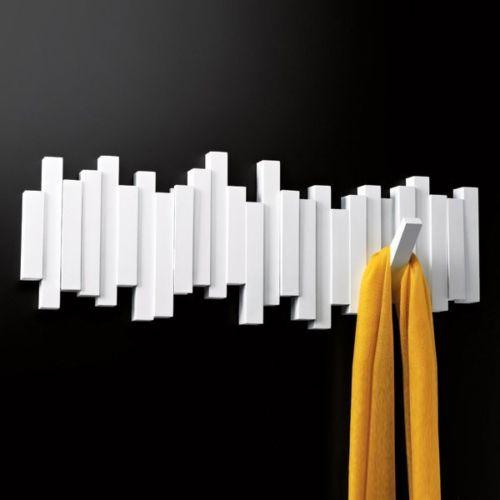 Umbra Design Appendiabiti Da Parete 5 Posti Bianco