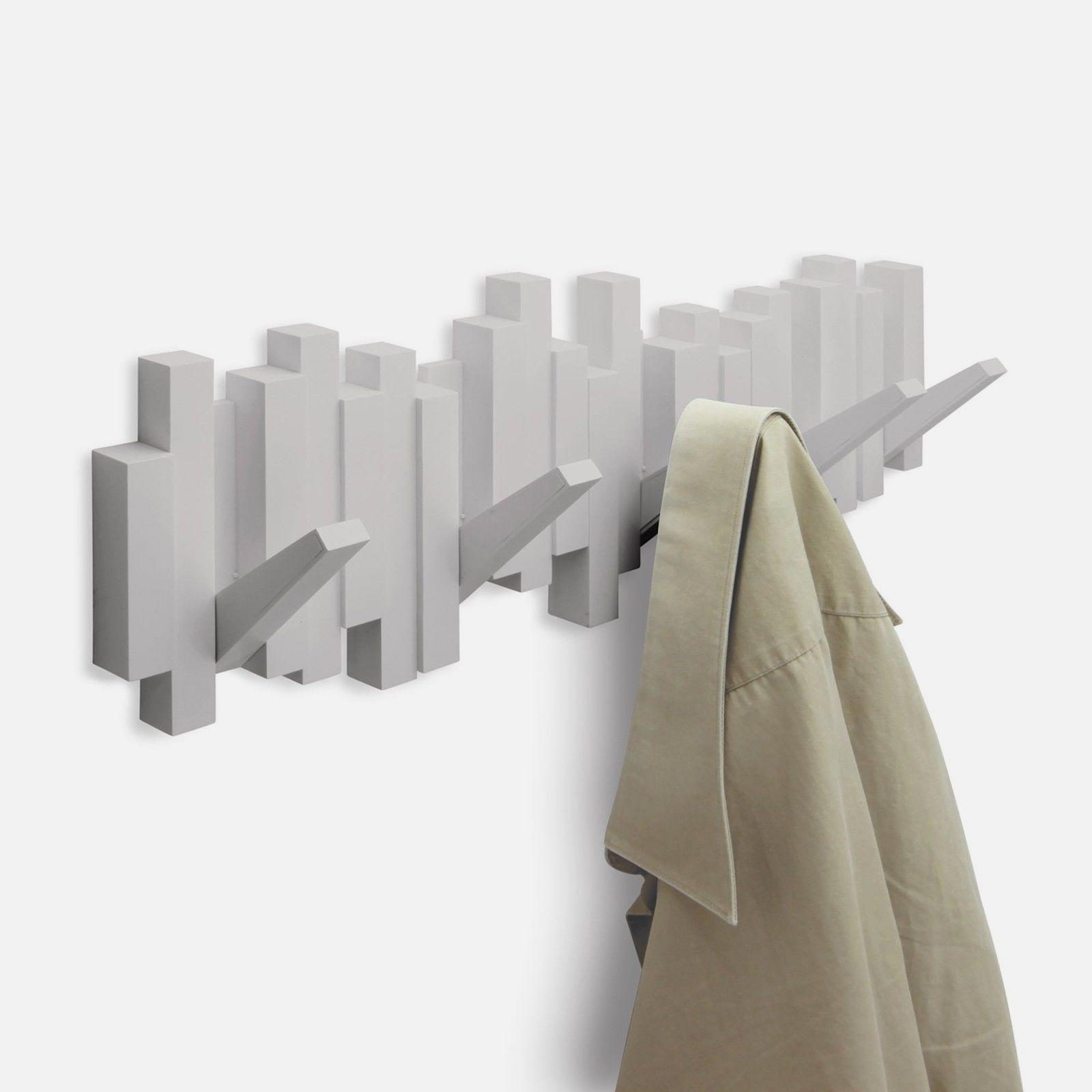UMBRA Design - Appendiabiti da Parete 5 posti Bianco