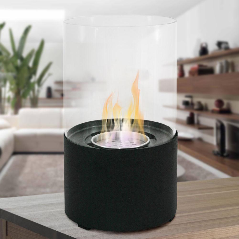 divina fire oxford biocaminetto da tavolo nero. Black Bedroom Furniture Sets. Home Design Ideas