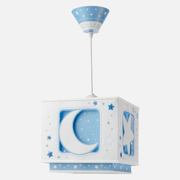 DALBER Moon Light 63232T Lampadario per Camerette Blu