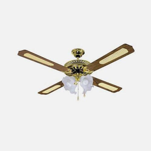 DCG VECRD53 Ventilatore da Soffitto 4 Pale in Legno