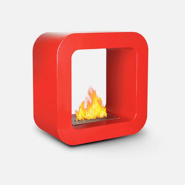 Divina Fire Bruxelles Biocaminetto da Terra Rosso
