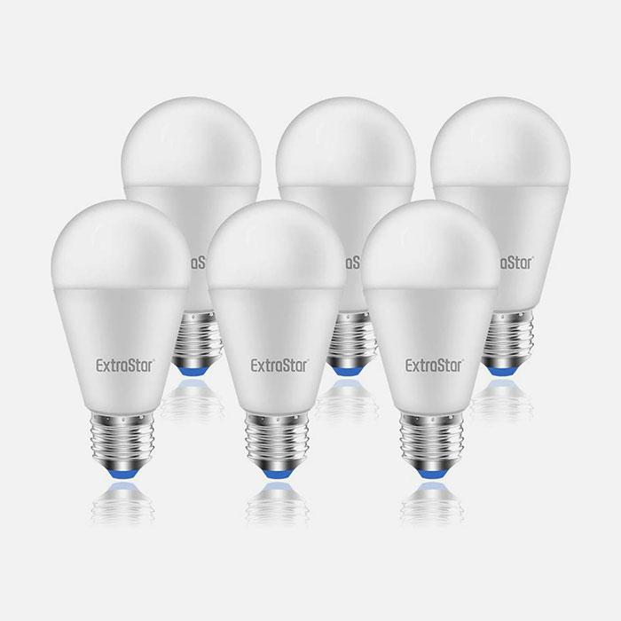 EXTRASTAR IT-A60A15W Lampadine a LED 15w E27 Luce Calda 6 Pezzi