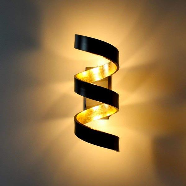 FAN EUROPE Helix AP3 Lampada moderna da Parete a LED 3x3w Nero