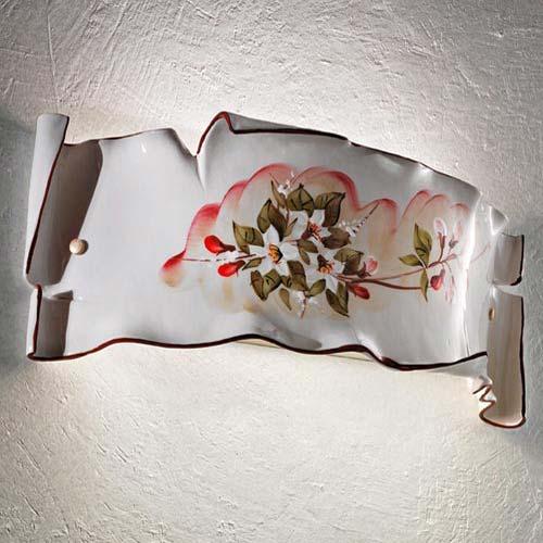 FERROLUCE Milano C1108 AP Lampada in Ceramica da Parete