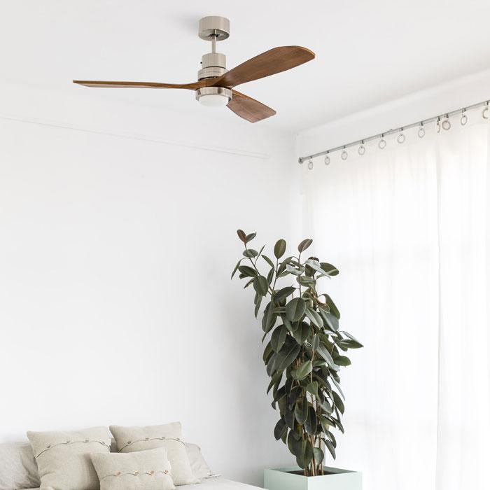 FARO Lantau LED 33518 Ventilatore da Soffitto con Luce Noce Scuro