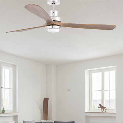 Faro lantau g ventilatore da soffitto con luce a led noce - Pale da soffitto design ...