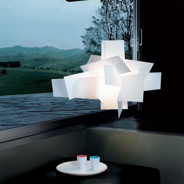 FOSCARINI Big Bang 151007F10 - Lampadario di Design Bianco 1 Luce R.E