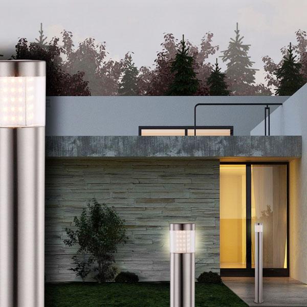 GLOBO Devian 34016 Lampada per Esterno da Terra a LED Acciaio H 80cm