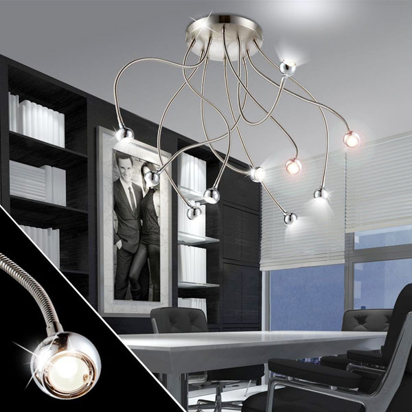 GLOBO Serpent 24109-10D Lampada Moderna da Soffitto 10 Luci LED Modellabile
