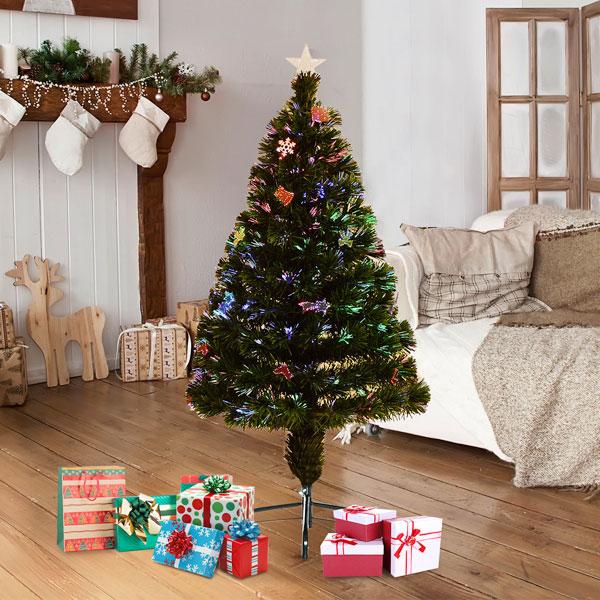 HOMCOM 830-043 Albero di Natale Artificiale 120cm con Ornamenti