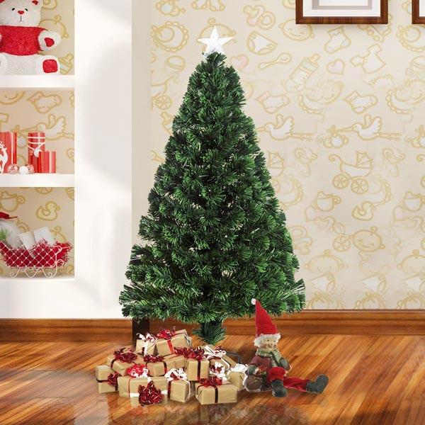 HOMCAM IT02-03430631 Albero di Natale Fibra + LED 120cm