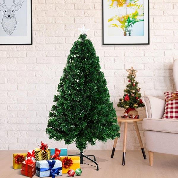 HOMCOM IT02-03490631 Albero di Natale Fibra Ottica 120cm