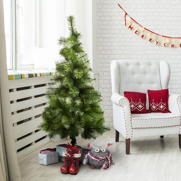 HOMCOM IT830-1340631 - Albero di Natale in PET 120cm