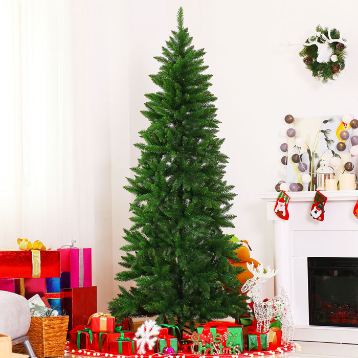 HOMCOM IT830-1840641 Albero di Natale Artificiale 210cm