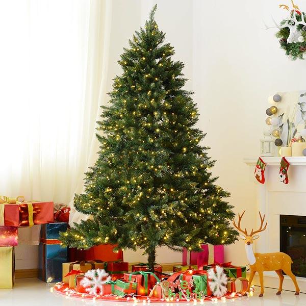 HOMCOM IT830-1930631 Albero di Natale 2154 Rami e 700 Luci LED 210cm