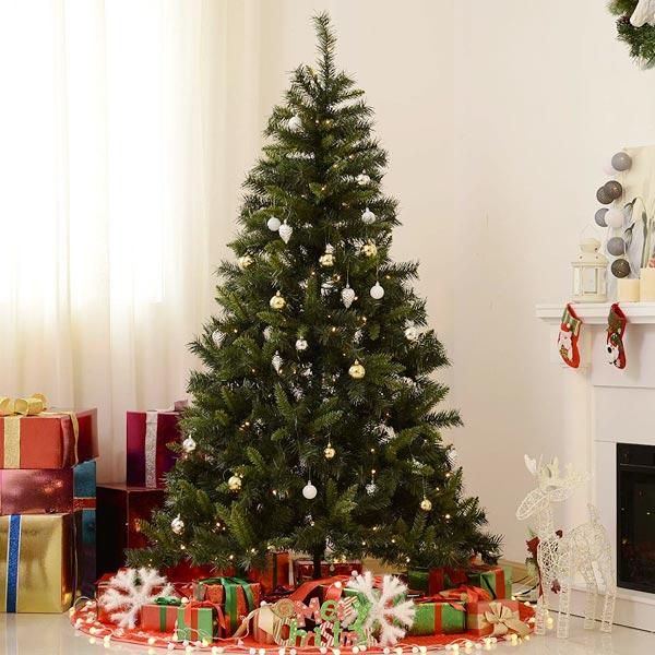 HOMCOM IT830-1850631 Albero di Natale con Luci LED 180cm