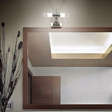 IDEAL LUX Double AP2 08851 Lampada da Parete Cromo