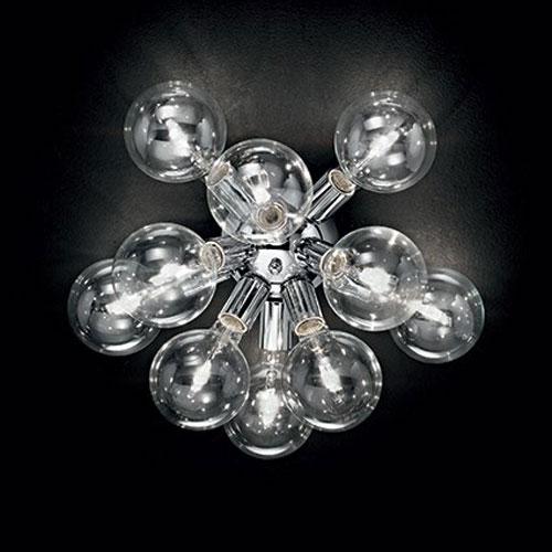 IDEAL LUX Dea PL10 074740 Lampada Moderna da Soffitto 10 Luci Cromo