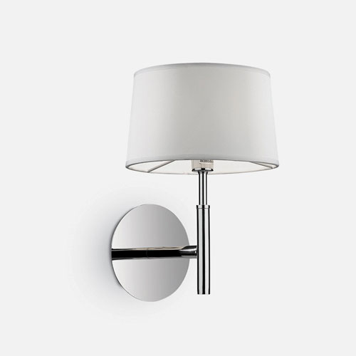 IDEAL LUX Hilton AP1 Lampada Moderna da Parete Tessuto Bianco