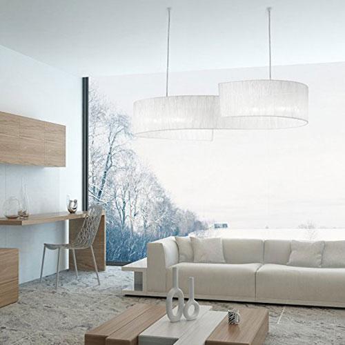 IDEAL LUX Nastrino SP4 088631 Lampadario Moderno Organza Bianco