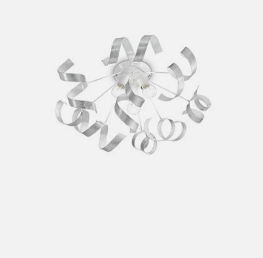IDEAL LUX Vortex PL3 101576 Plafoniera Moderna 3 Luci Argento