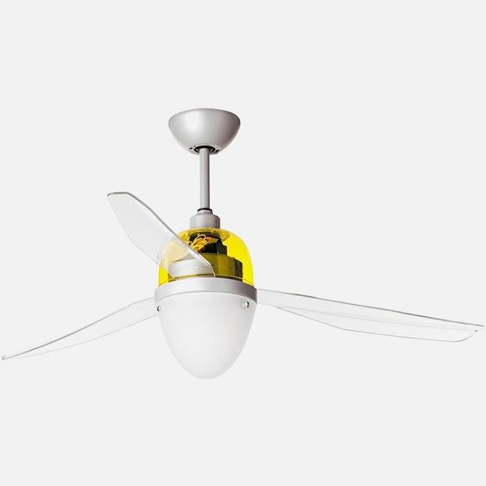ITALEXPORT Swing Eco 7011 Giallo Ventilatore da Soffitto Moderno