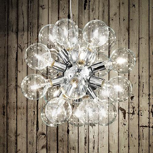 IDEAL LUX Dea SP20 074801 Lampadario Moderno 20 Luci Cromo