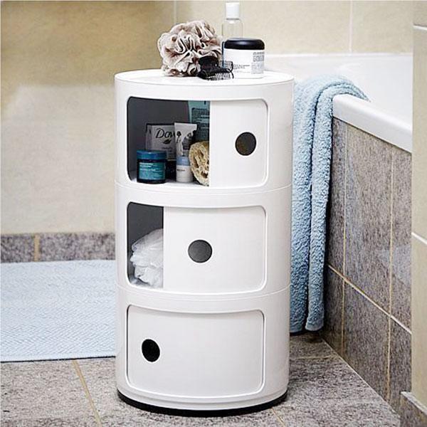 KARTELL Componibili 4967-03 Mobiletto Moderno 3 Elementi Bianco