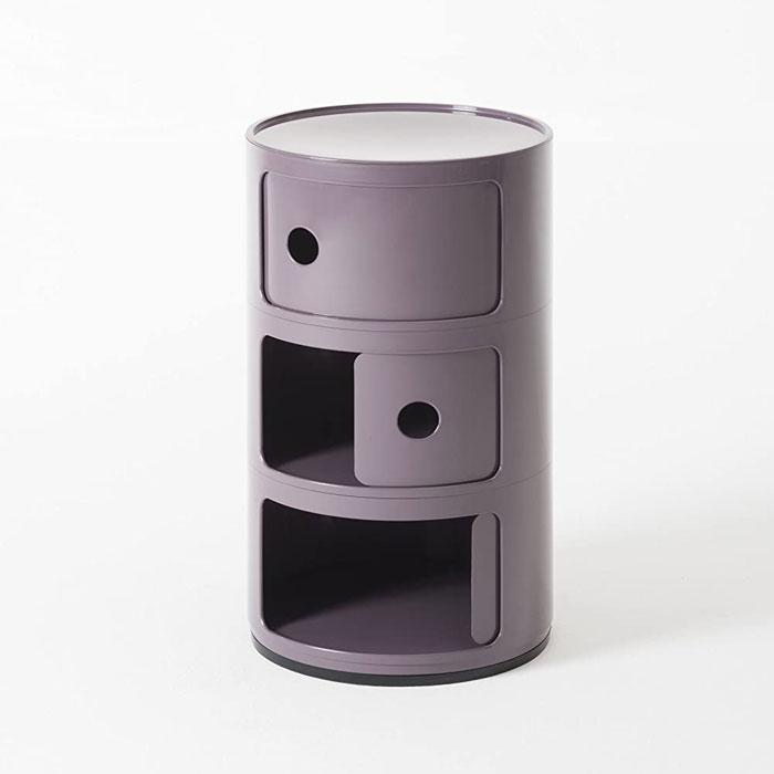 KARTELL Componibili 4967-20 Mobiletto Moderno 3 Elementi Viola