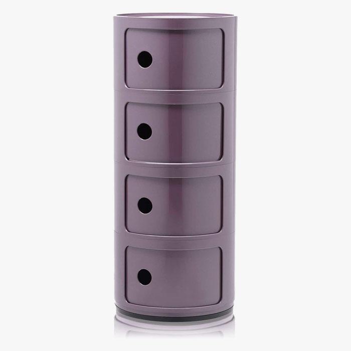 KARTELL Componibili 4985-20 Mobiletto Moderno 4 Elementi Viola