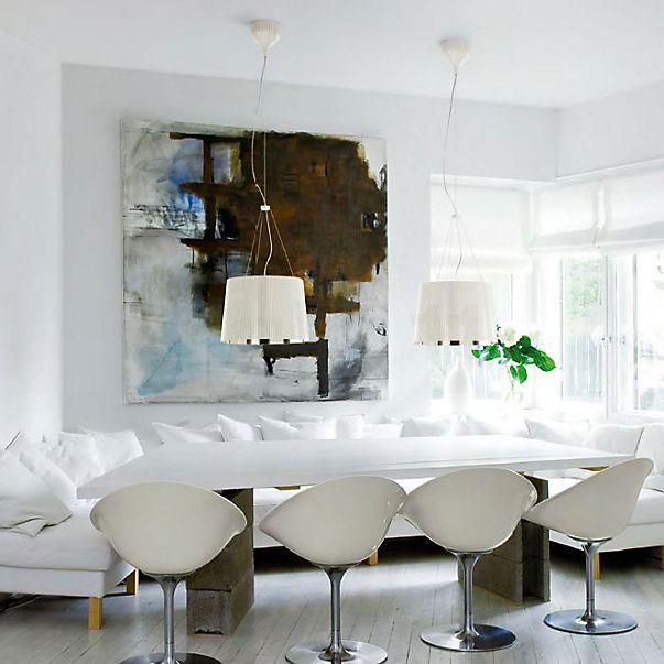 KARTELL Gè 9082/KK Lampadario di Design Bianco-Oro