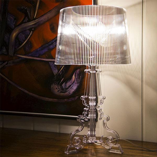 Kartell Bourgie 9070 B4 Lampada Design Da Tavolo Trasparente