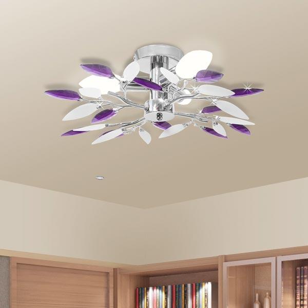 Lampda da soffitto moderna VidaXL cristallo acrilico viola