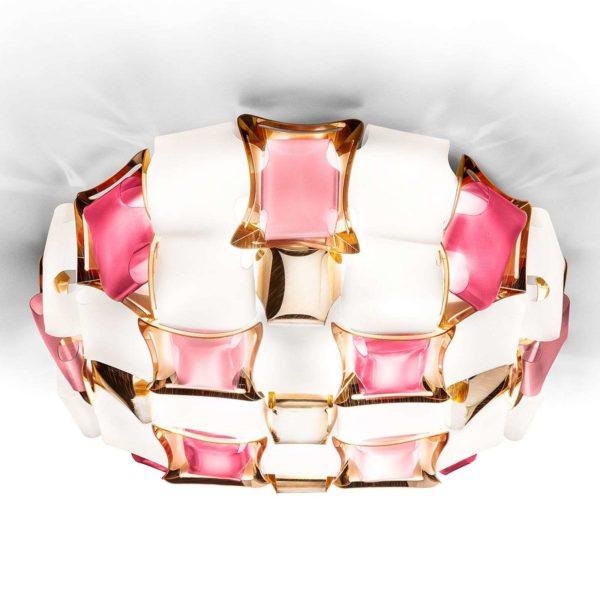 SLAMP Mida Rose 50cm Lampada da Soffitto Rosa a LED