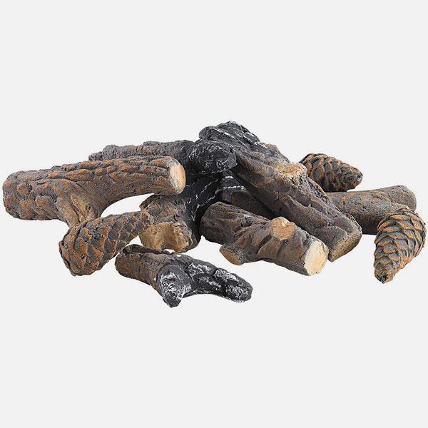 Legna Decorativa in Ceramica per Biocaminetti Set 9 pezzi