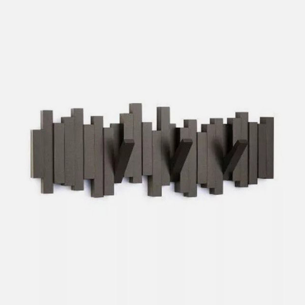 UMBRA Appendiabiti di Design 5 Posti Marrone