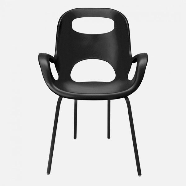 Umbra oh chairs sedia moderna nera for Sedia design nera