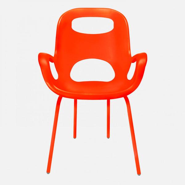 Umbra oh chairs sedia moderna bianca arancione for Sedia bianca moderna