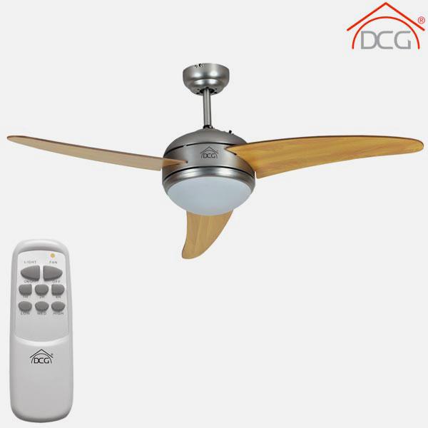 DCG VE-CRD60-TL Ventilatore da soffitto 3 pale legno