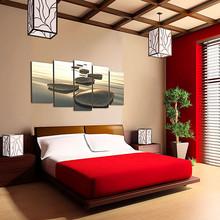 DEKOARTE 92 Quadro Moderno di Design Tessuto Pietre Zen