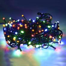 100 Luci di Natale Multicolore 9mt Interno esterno