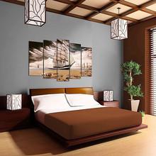 DEKOARTE 298 Quadro Moderno di Design Spiaggia Veliero
