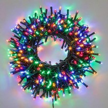 300 Luci di Natale a led Multicolore 18 mt Interno ed Esterno