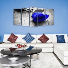 DEKOARTE 155 Quadro Moderno di Design Tessuto Rosa Blu