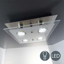 B.K.Licht 40-02-04-S Lampada Moderna da Soffitto Quadrata a LED