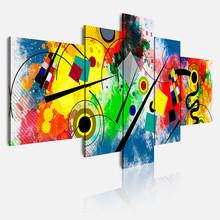 DEKOARTE 438 Quadro Moderno Astratto Kandinsky 5 Pezzi