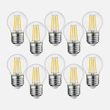 EXTRASTAR I IT-G45E27WW Lampadine a LED 4w Sfera E27 Luce Calda 10 Pezzi