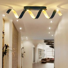 FAN EUROPE Helix PL4 Lampada Moderna da Soffitto a LED 20w Nero